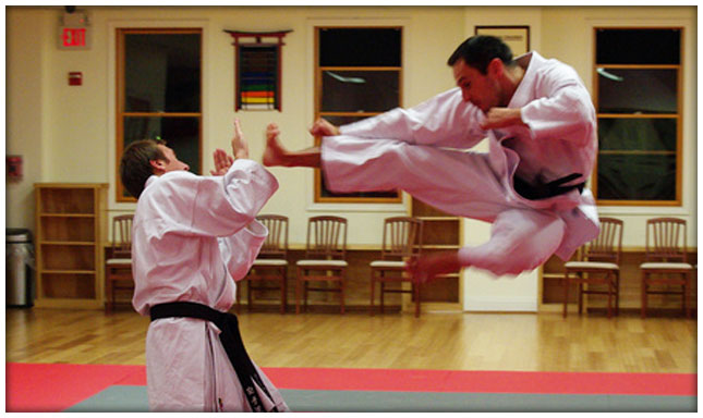 KI Martial Arts - Sparring Jump Kick
