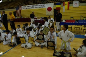 Congratulations to T., 10 Year Old White Belt Kumite, 2nd Place 10 Year Old White Belt Kata