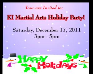KI Martial Arts Holiday Party